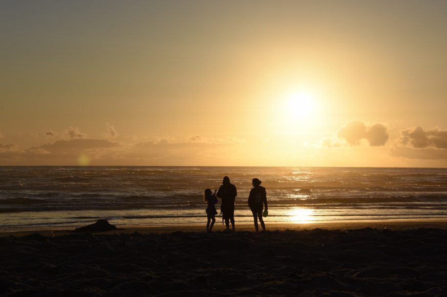 Sunset at Cannon Beach in Oregon. Senior Ryan Su took this picture while traveling on the mainland this past summer.
