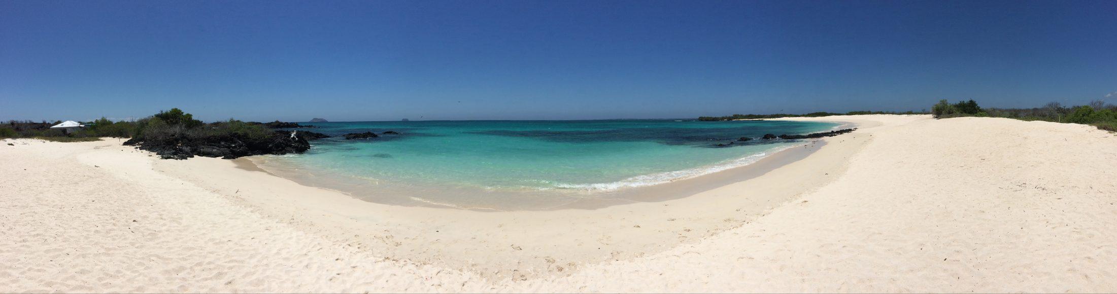 North Santa Cruz beach on the Galápagos Islands