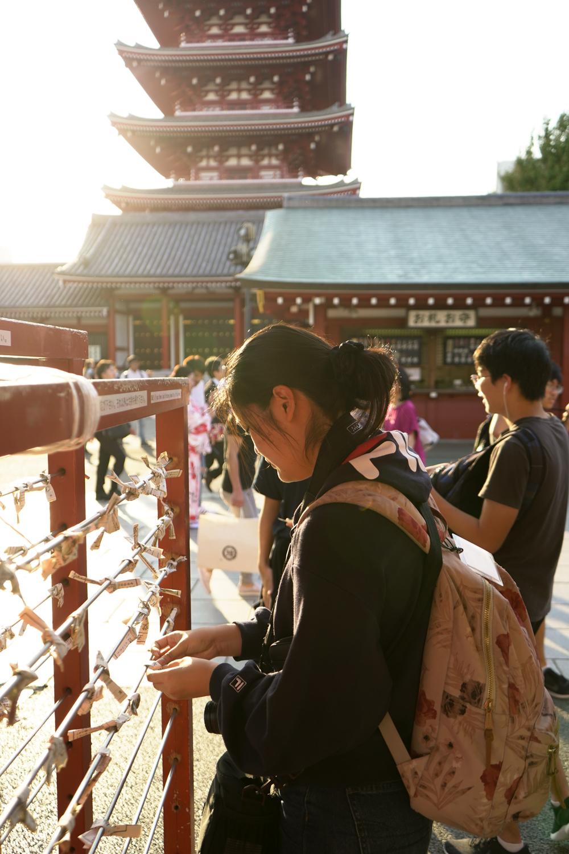 Paper fortunes at Sensoji