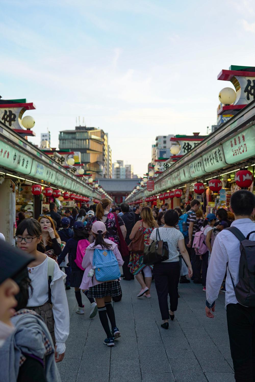 Approach to Sensoji Temple